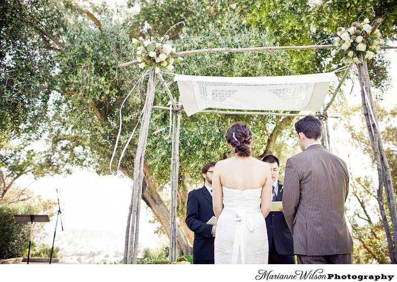 rustic chuppah at Upper Las Virgenes Canyon
