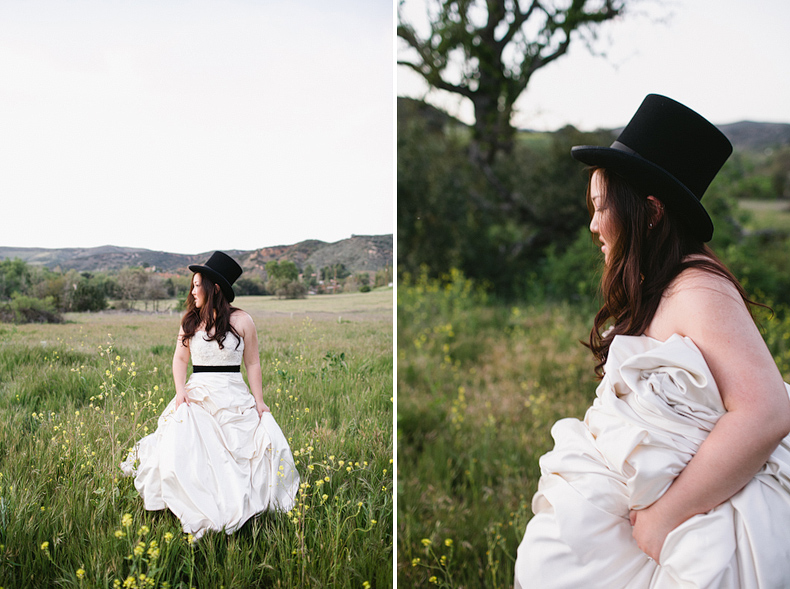 bride in a top hat