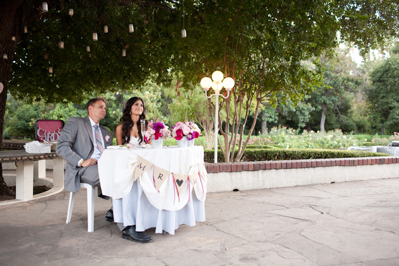 Orcutt Ranch Wedding Reception Toast And Sweetheart Table