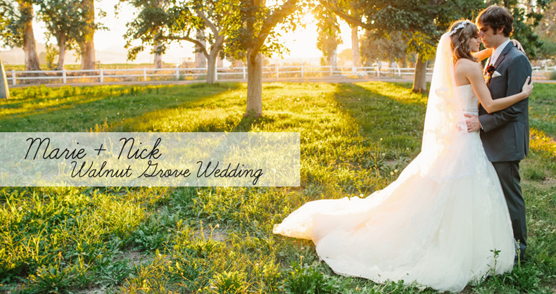 Walnut Grove Wedding: Marie + Nick