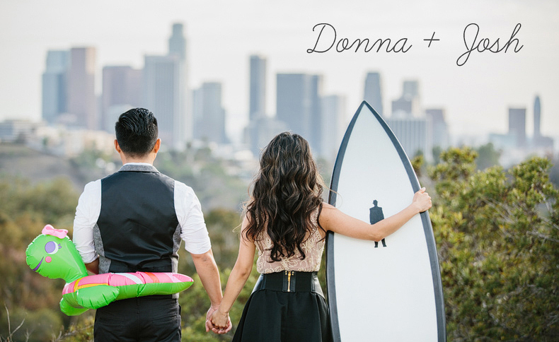 Los Angeles Engagement Photographers: Donna + Josh