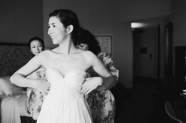 Wayfarers Chapel and Hotel Maya Wedding: Julie + Andrew