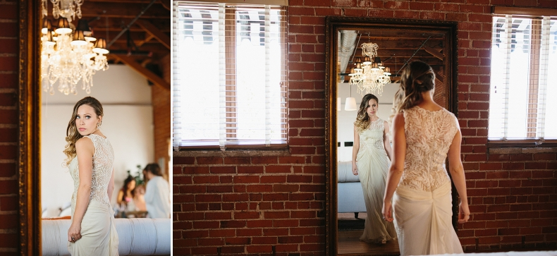 Alannah is checking herself out before she gets married!