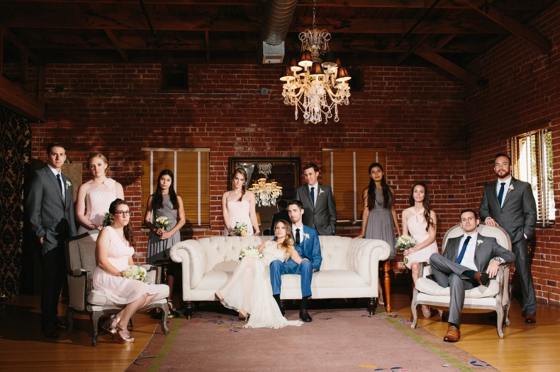 Here is a super serious photo of the wedding party.