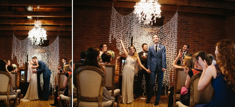 This is the kiss and recessional!