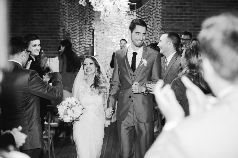 The recessional from the ceremony is one of our favorite times of the day.