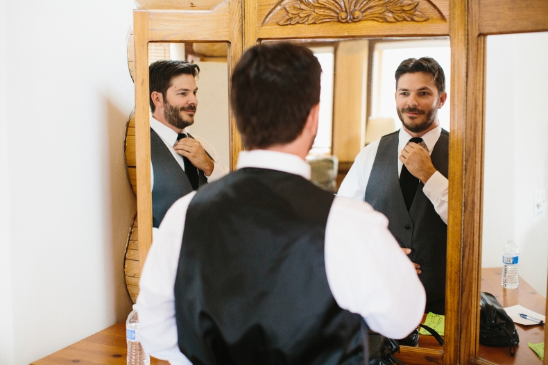 This is a photo of Jon getting ready for his wedding.