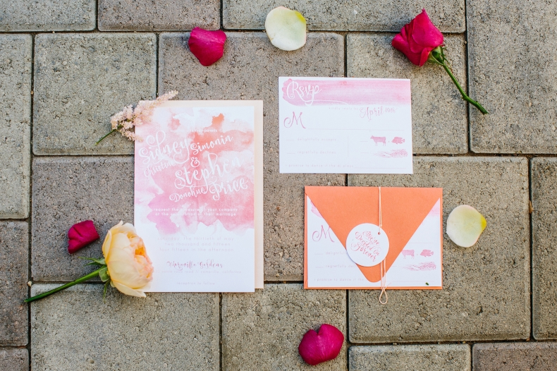 This is the beautiful watercolor invitation suite.