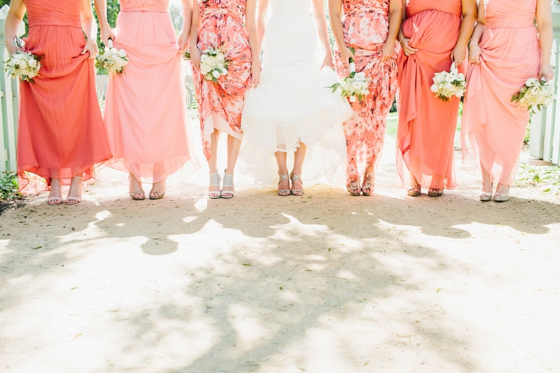 Here is a photo of the bride and bridesmaids