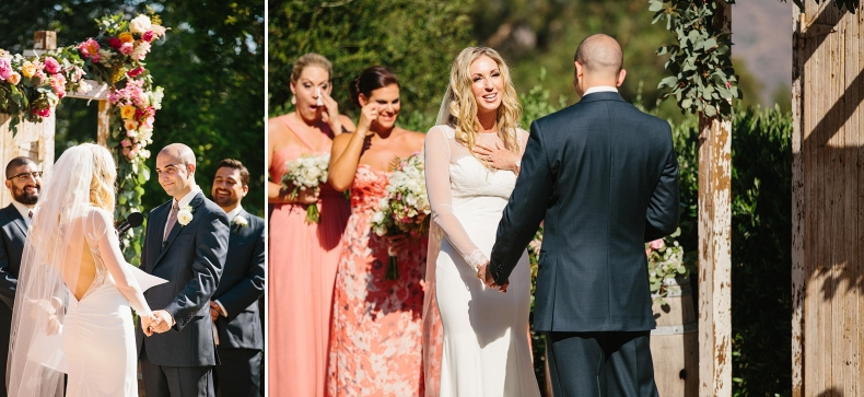 These are photos of Sidney and Steve sharing vows.