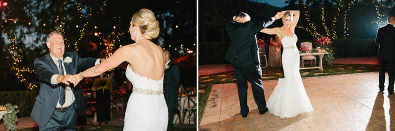 Here are photos of the bride and her dad during the father daughter dance.