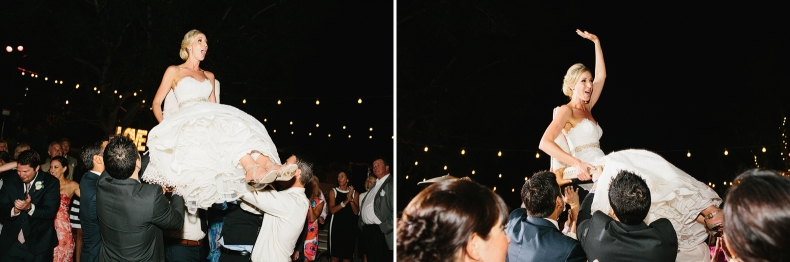 Here are photos of the bride being lifted on a chair.