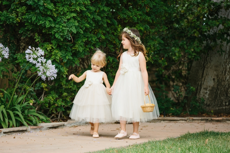 This is a photo of the adorable flower girls.