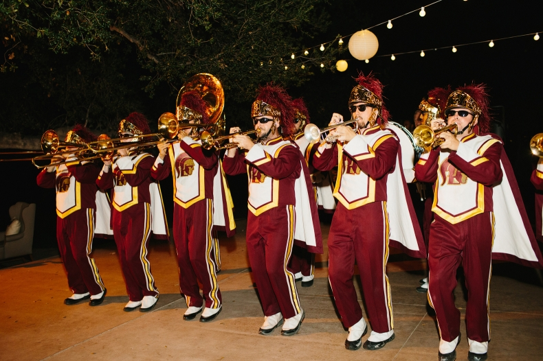 Here is a photo of the USC marching band during the reception.