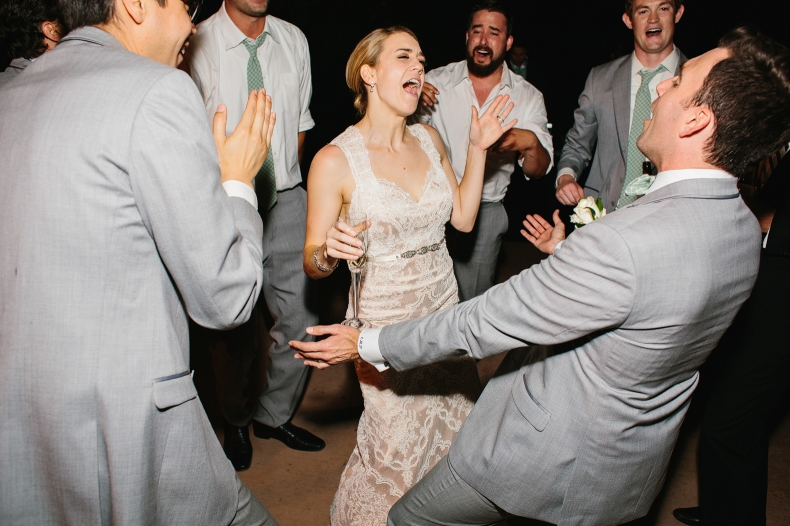 Kelly dancing with Chris and the groomsmen.