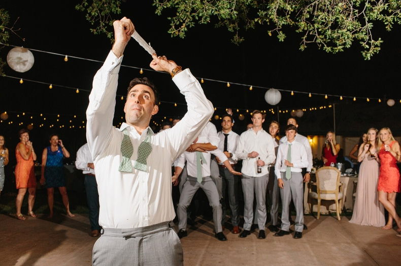 This is a photo of the garter toss.