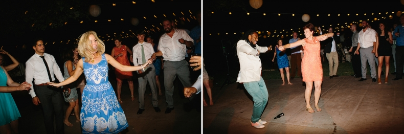 Photos of the guests dancing at Kelly and Chris