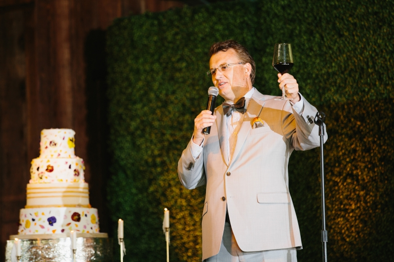 A toast during the reception.