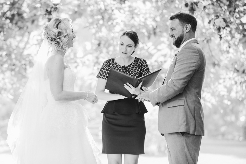 A sweet photo during the ceremony.