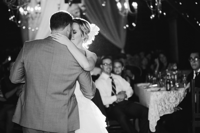 A gorgeous photo of Brooke and Blake during the first dance.