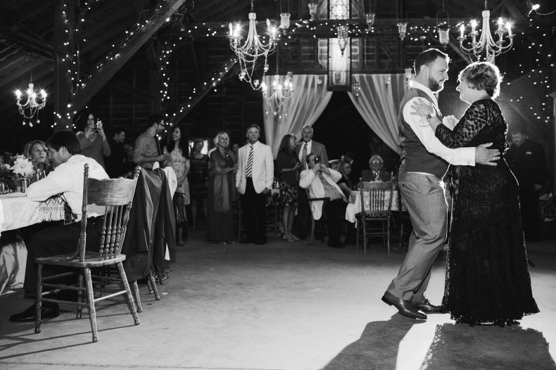 A beautiful photo of the mother son dance.