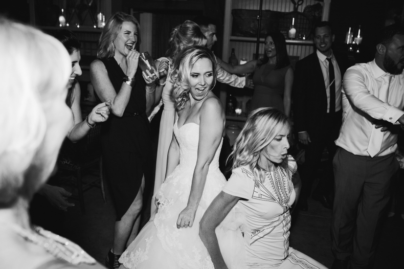 Brooke dancing with her guests.