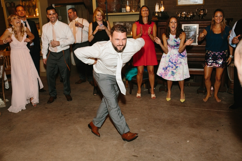 Blake doing the chicken dance.