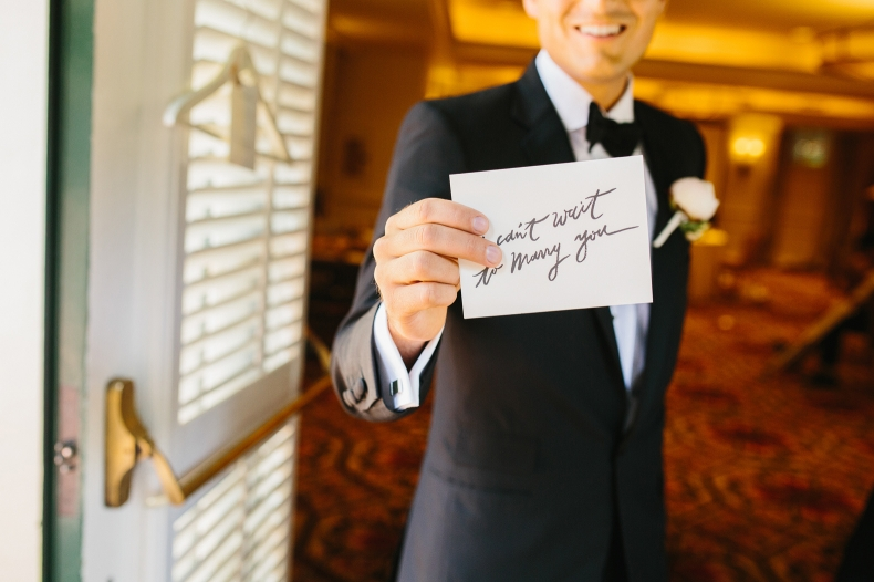 A special note from the bride to the groom.