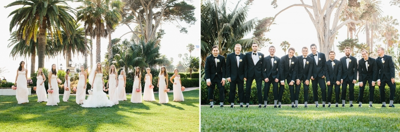 Photos of the bridal party.