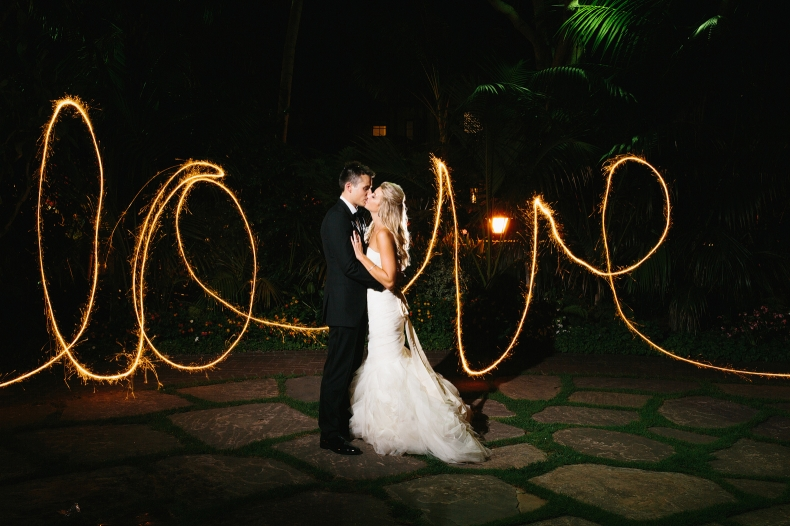 A light painting of Jaclyn and Nick.