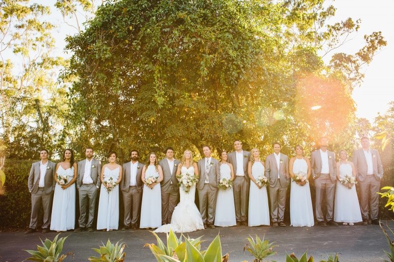 A beautiful shot of the full wedding party.
