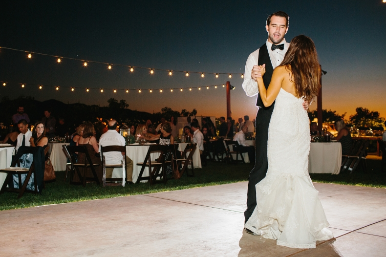 Andy singing to Larissa during the first dance.