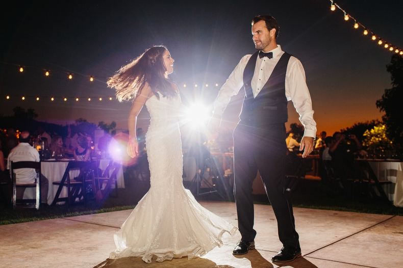 A beautiful shot of the first dance.