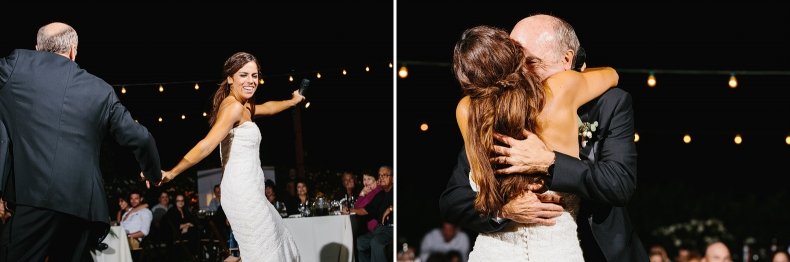 The bride and her dad lip synced songs during their dance.