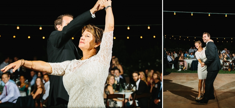 The groom also danced with his mom.
