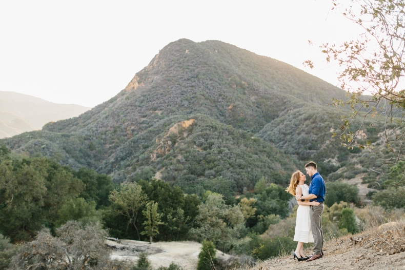 The couple on the hillside.