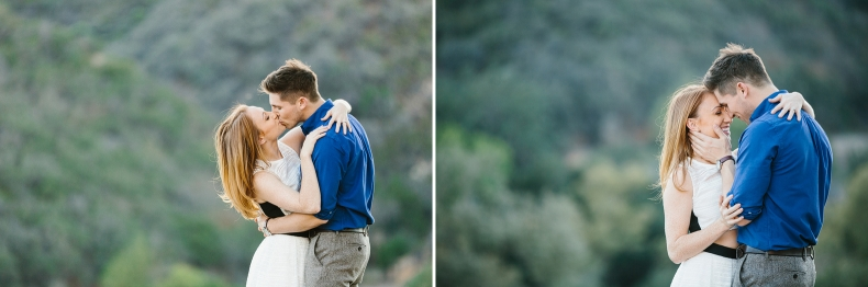 Sweet photos of the couple close together.