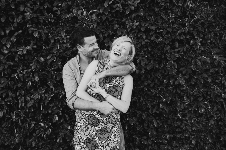 Hayley and David laughing together.