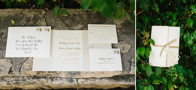 "The wedding invitation suite with a cute tag labeled ""all the details""."