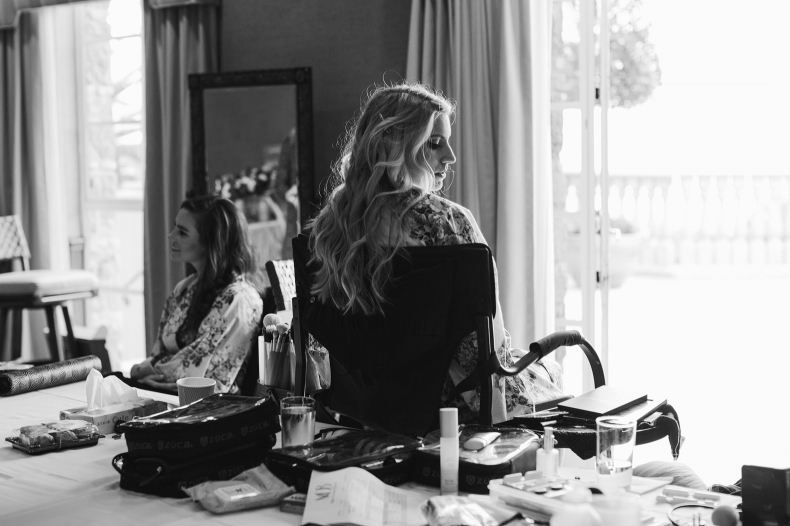 A gorgeous photo of Britt during getting ready.