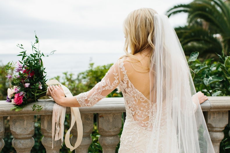 A gorgeous shot of the back of the bride