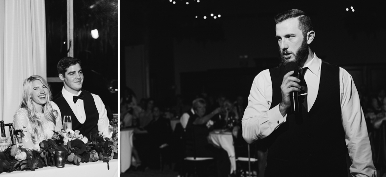 Black and white photos of the best man
