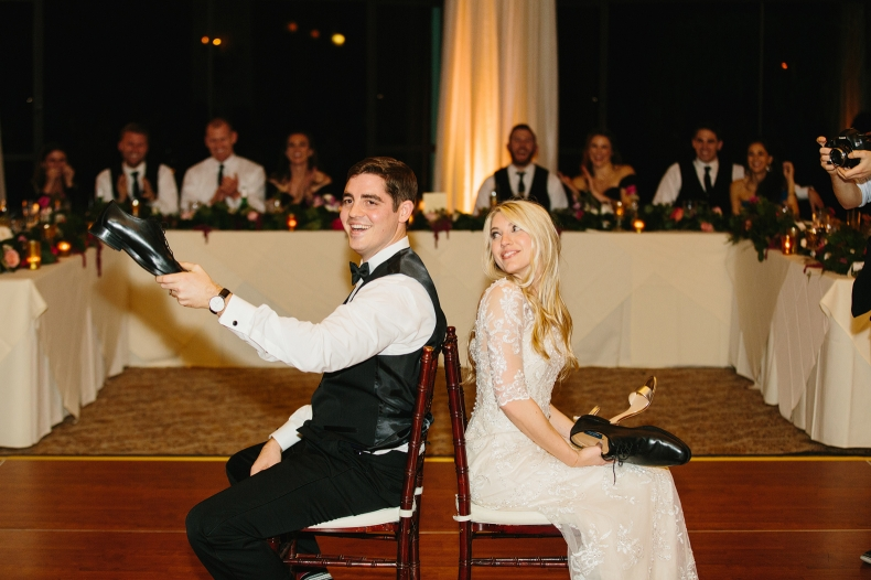 Britt and Steve played the Newlywed game during the reception.