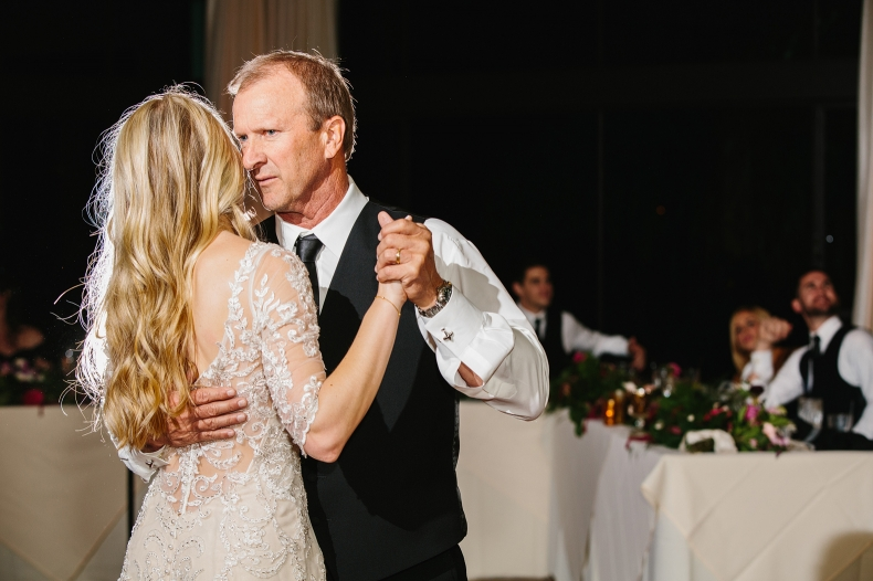 The bride had a special dance with her dad.