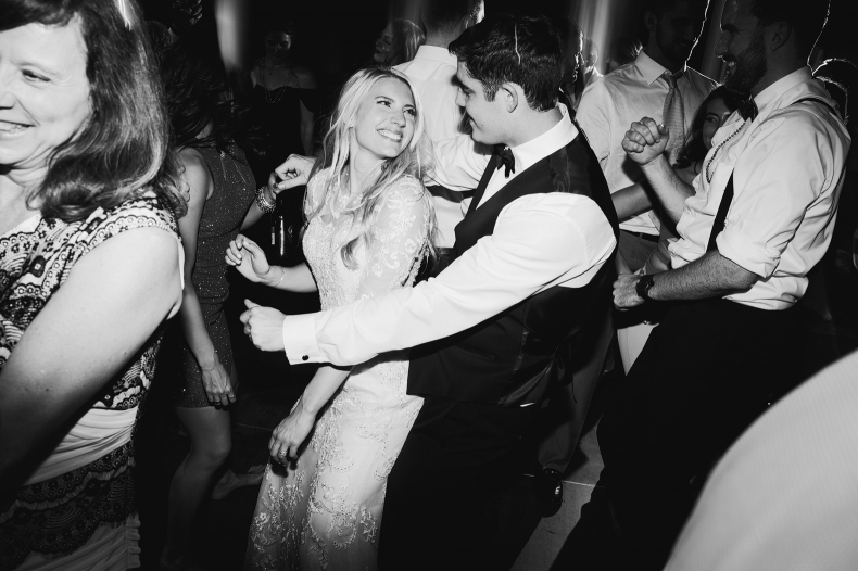 A cute photo of Britt and Steve dancing together.