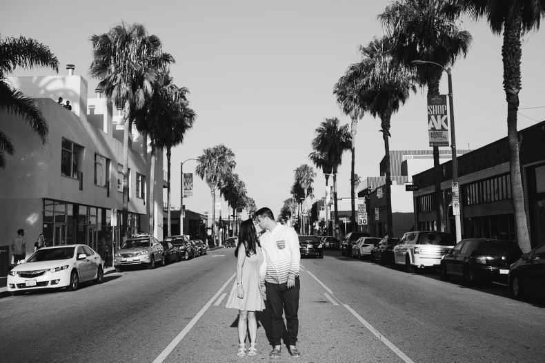 The couple in the Venice streets.