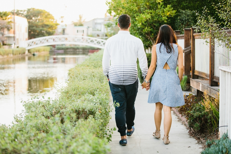 Maily and Hajime walking in the Venice canals.