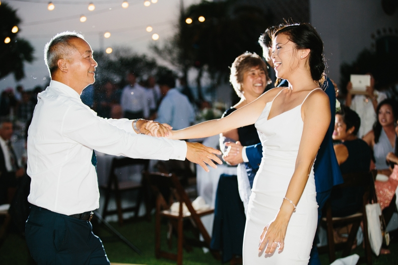 The special parent dances during the reception.