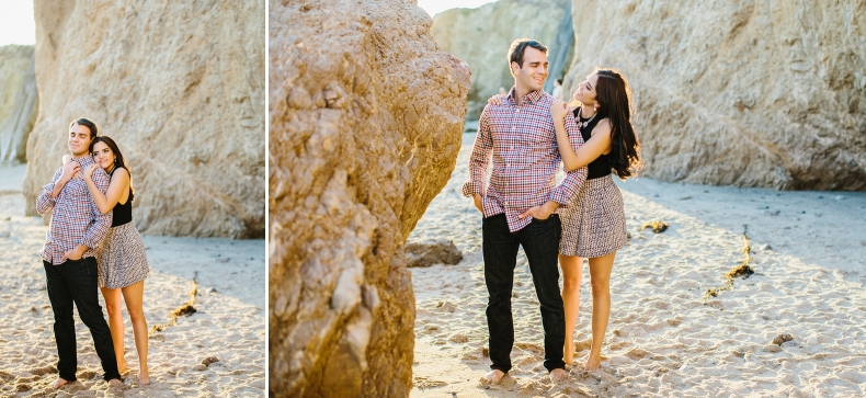 Miren and Peter at a Malibu beach.