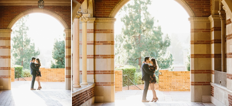 Beautiful photos of the couple at the university.